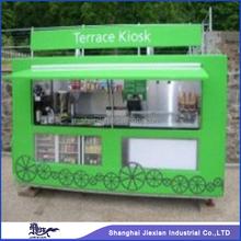 2015 Jiexian JX-FS280E Stainless steel exhust hood fryer equipped hot dog kiosk