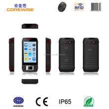China CE Certification Rugged IP65 3G Dual Core Camera WIFI GPRS GPR hf uhf rfid nfc reader/writer bluetooth price smartphone