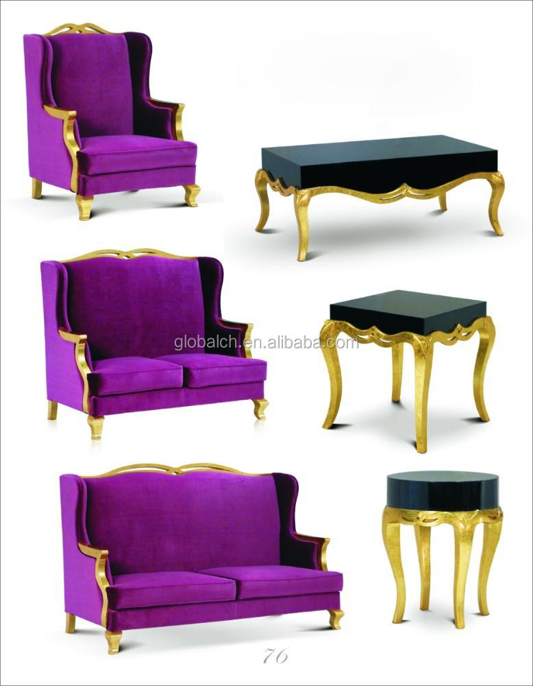 Antique Asian Hilton Hotel Furniture Simplify Fabric Oak