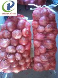 plastic onion/fruit mesh bag10kg 15kg 30kg