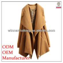 Trendy fashion perfect fitted woolen coat for women