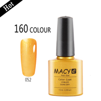 MACY wholesale makeup nail polish uv gel, german nail gel 153 colors 7.3 ml good quality