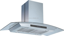 90CM Stainless Steel Island Range Hood with Tempered Glass H409 /china factory