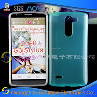 Smooth TPU soft skin Jelly cell phone shell for LG G3 Stylus D690 wholesale mobile phone case