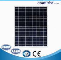 Polycrystalline pv module 50W poly solar pannels with CE ISO