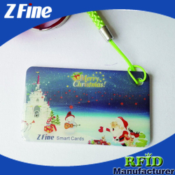 rfid epoxy resin contectless crystal card