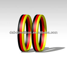 2014 world cup country flag stripe flag printed Germany silicone wristband promotional item