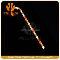 Novelty led Christmas walking sticks with led christmas light inside,christmas tree ornament LED flashing walking sticks