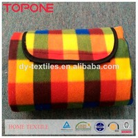 China picnic wholesale outdoor polyester / cotton waterproof blanket