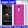 MTK6582 Quad Core 1.3GHz Android Smartphone 5.5'' QHD Screen Cell Phones 1GB RAM 8GB ROM GPS 5MP Mobile Original LEAGOO Lead 1
