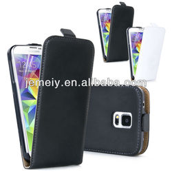 For Samsung Galaxy S5 I9600 Genuine Real Leather Flip case cover mobile phone case