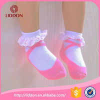 cute baby socks/ baby infants combed cotton socks with lace/ toddler lace princess socks OEM service