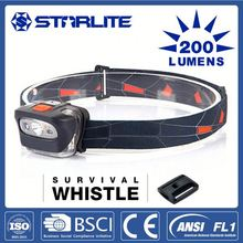 STARLITE Hot sale survival whistle 200LM front head lamp