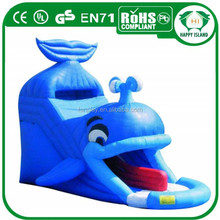 HI ourdoor funny game top quality inflatable slip slide,inflatable wet and dry slide,inflatable cartoon slide