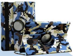 Camouflage Case For iPad 2 3 4 5 6 Rotating Stand Flip Smart PU Leather Full Protective Cover For iPad Mini 1 2 3 4