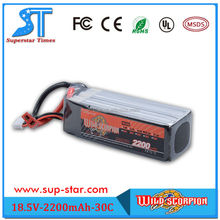 high performance 5s 2200mAh propel rc helicopter battery