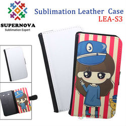 For samsung galaxy s3 flip case custom leather case