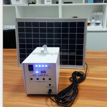 10W Solar Panel Mini Home Lighting System thin film solar panel With Mobile Charger