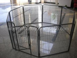 Black Pet Dog Playpen With Door and Carry Cage