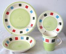 16pcs handpainted dinnerware set , Stoneware dinner set with handpainting