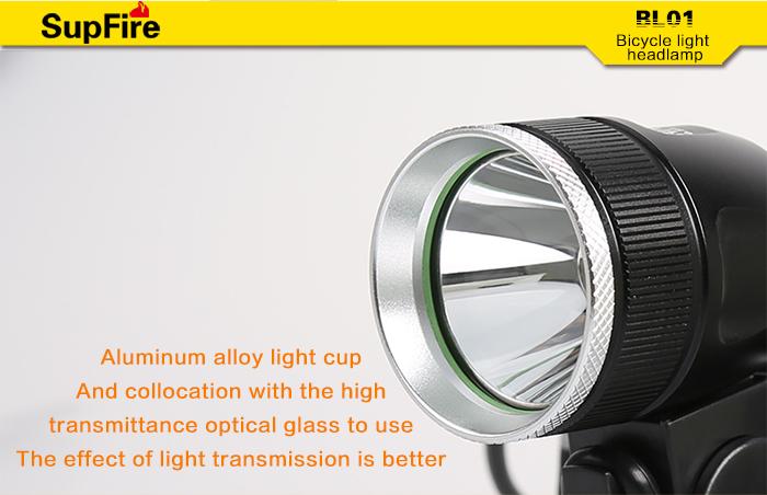 SupFire BL01 rechargable led light bicycle lighting
