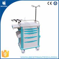 China BT-EY005 Hospital ABS trolley emergency equipment medical trolley with wheels emergency crash cart