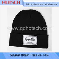 Fur ball beanie hat / knitted girl cap