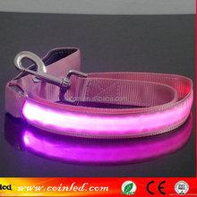 8 Colors LED Flashing Light Dog Pet Rope Belt Harness Safety Glow Wholesale Nylon Leash Lead