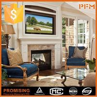 High quality quartz fireplace surround