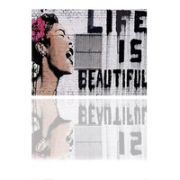 Life Is Beautiful Banksy Pop Street Art Printing on Canvas