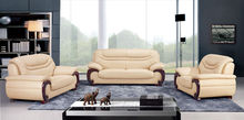 Mobiliariodesala dubai, nuevo modelo de muebles de cuero sofá seccional a708