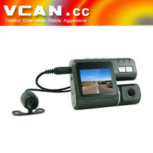 2 inch Dual camera dvr camera for car radar detector for accident VCAN0433
