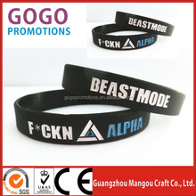silicone wristbands with texts for promotional events,Cheap Silicon wristband with small MOQ and logo to be embossed or debossed
