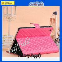 2013 New Product Fashion PU Leather Stand cover case for New ipad mini