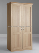 Factory direct sell modern design brushed handle double wardrobe
