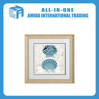 Blue ocean hanging wall painting, The shell pattern adornment mural