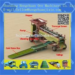 small scale mini mobile gold trommel gold mining machine