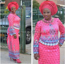 high quality african chemical lace dryed embroidery lace , nigerian guipure lace fabric 2072 fushia