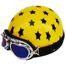 2015 New Novelty Motorcycle Half Helmet with Goggle