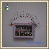 Custom PVC playing cards with plastic box