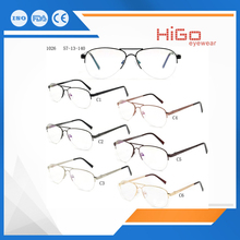 Stainless steel optical frames cheap price ready spectacle eyeglasses metal eywear china wholesale