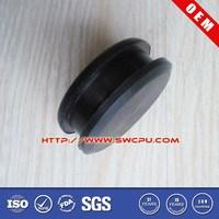 Flat belt idler pulley for car