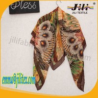 hijab printed scarf with butterfly, scarf factory china