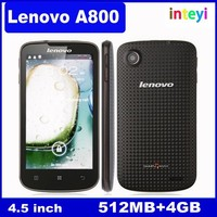 "Original Lenovo A800 phone MTK6577 Dual Core 1.2Ghz 512M+4G Dual SIM 4.5"" IPS 5MP Camera Android 4.0"