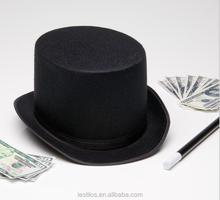Black magician hat Magic hat Fedora hat