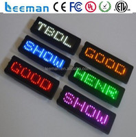 Leeman Group Rechargeable LED Mini Moving Sign,scrolling LED name badge
