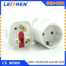 LEISHEN Brand uk plug adapter UK converter plug CSA approved