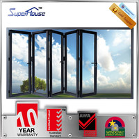 Australian standards sliding folding design / aluminum glass door for office balcony