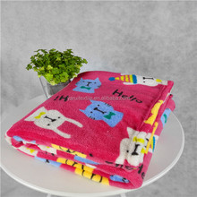2015 hot sale factory price super soft Holle Kitty printed 100% ployester bed blanket