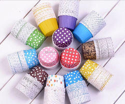 Disposable Pretty Paper Cupcake Baking Cups Styling Cooking tools 100pcs/bag Muffin Cake Decoration